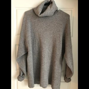 Free People Sweaters - Free People Grey Oversized Cozy Sweater